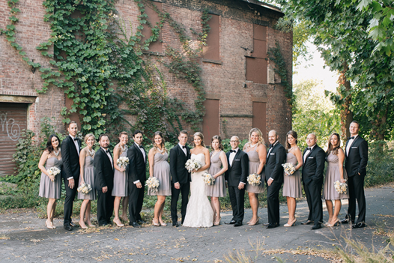 Outdoor, fall, autumn wedding at The Roundhouse at Beacon Falls, New York, by Kelly Kollar Photography