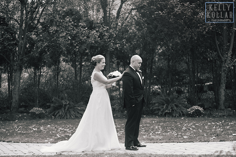 Fall wedding at the Tides Estate in North Haledon, New Jersey. By Kelly Kollar Photography.
