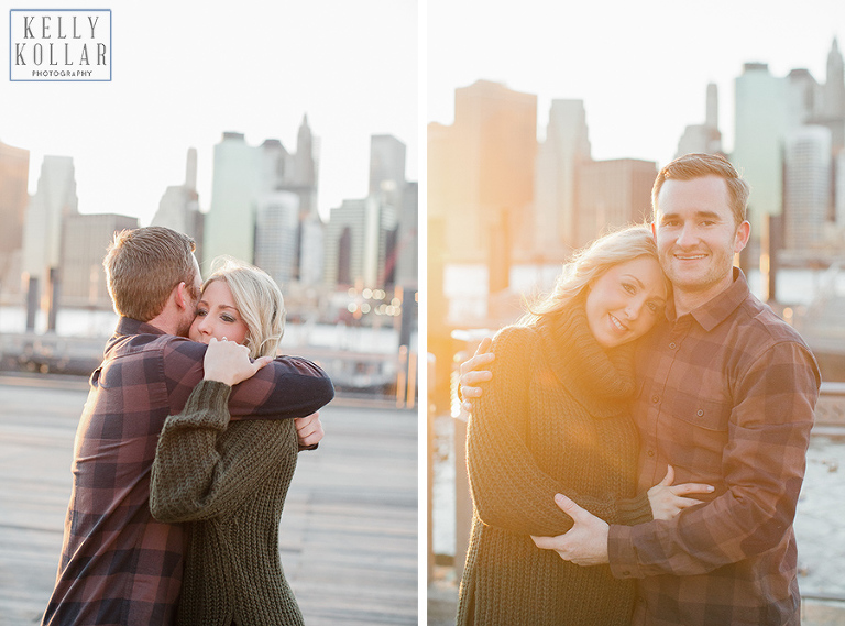Engagement session in Brooklyn Bridge Park. Photos by Kelly Kollar Photography.