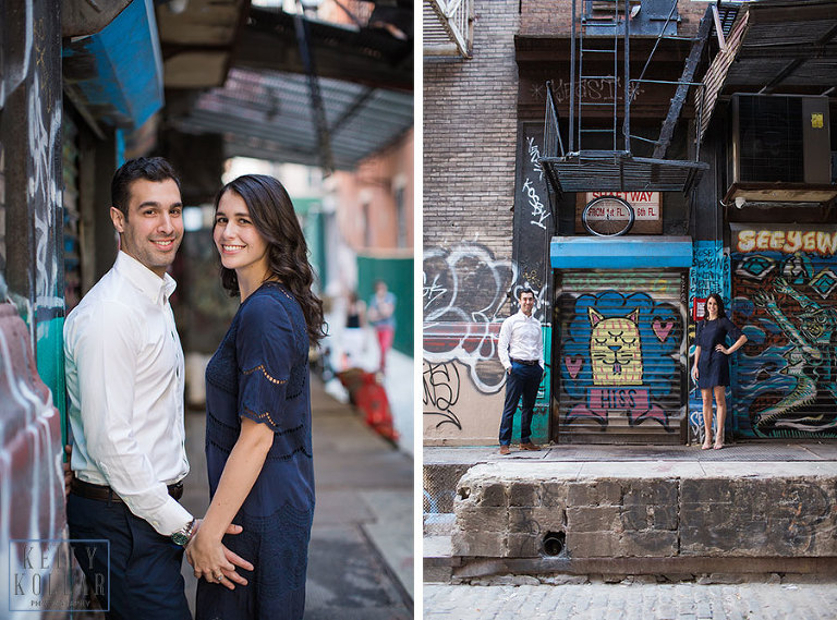Engagement session in Tribeca. Photos by Kelly Kollar Photography.