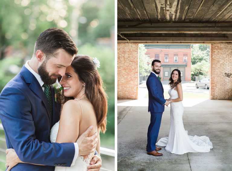 Wedding at Roundhouse Beacon in the Hudson Valley, New York.  Photos by Kelly Kollar Photography.