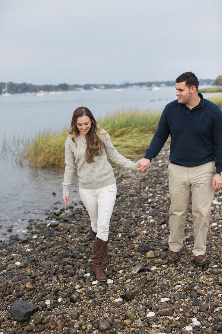 Engagement session at Tod's Point in Greenwich, Connecticut.